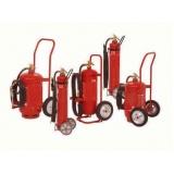 extintor de incêndio sobre rodas na Vila Andrade