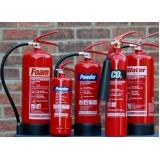 suporte de solo para extintores de incêndio